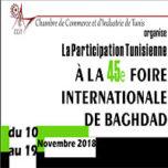 Participation de la CCITUNIS à la Foire Internationale de Bagdad