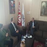 Visite de Monsieur samir BECHOUEL, secrétaire d'état chargé du commerce auprès de Monsieur le Ministre du Commerce à la Chambre de Commerce et d'Industrie de Tunis